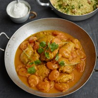 Saffron Chicken with Apricots and Cardamom