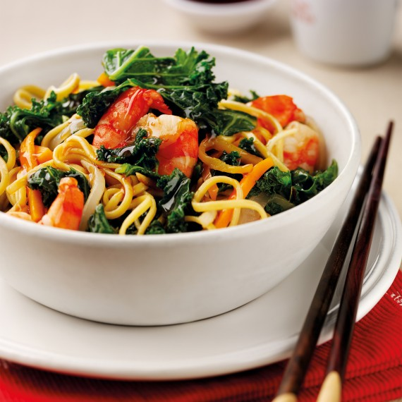Photo of prawn kale stir fry