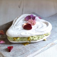 Passion Fruit Meringue Cake with Green Tea Cream