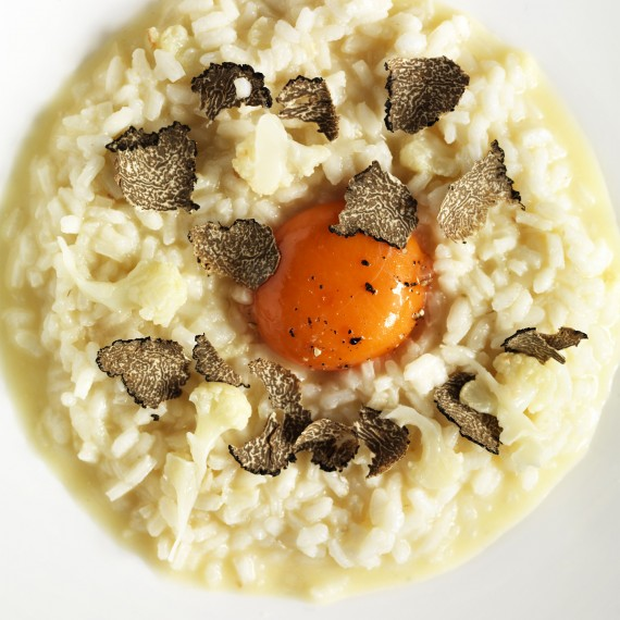 Photo of cauliflower and truffle risotto