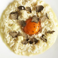 Cauliflower and Truffle Risotto with Egg Yolk