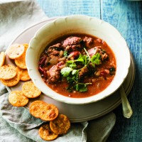 Mexican Meatball Soup with Rice