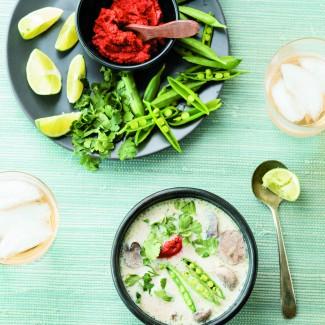 Thai Ginger-Chicken Soup