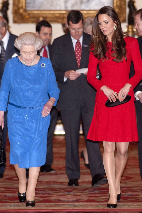 Photo of Kate Middleton and the Queen