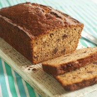 Divine chocolate chip and brazil nut banana bread