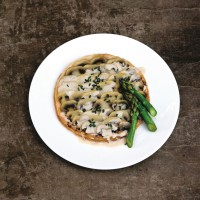 Mushroom Tarts with Asparagus Tips