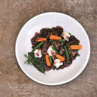 Quick-Cook Quality Beef With Peppercorns And Puy Lentils
