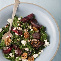 Beetroot, kale and feta salad