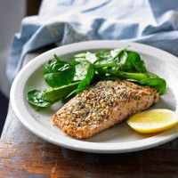 Hazelnut-Crusted Wild Salmon