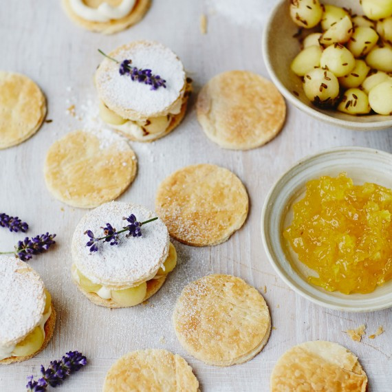 John Whaite Lavender Sandwich Biscuits photo