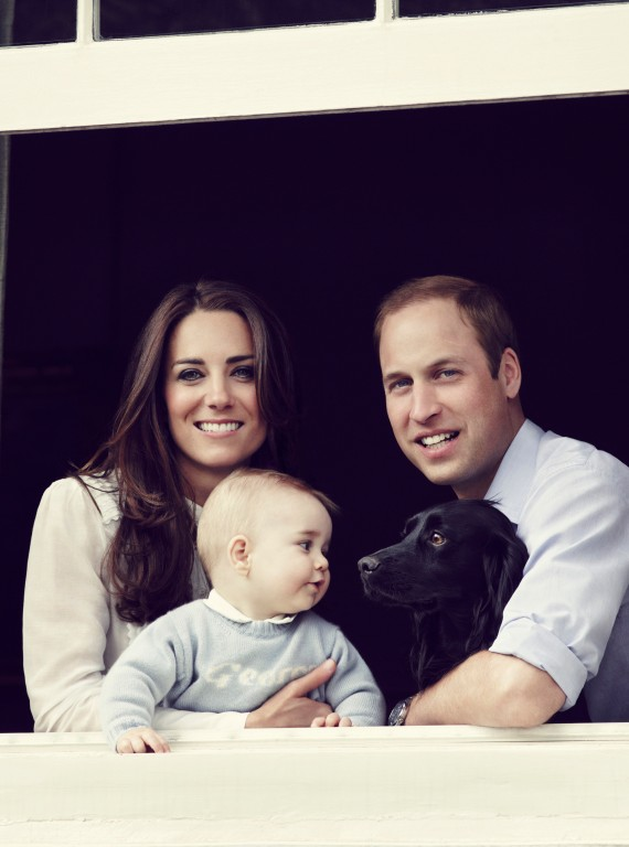 Prince William Kate MIddleton and Prince George