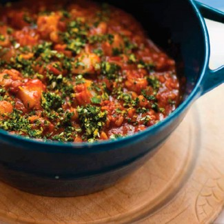 Fish stew with gremolata