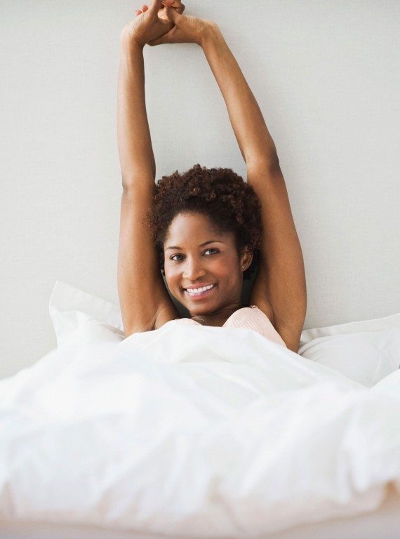 woman in bed photo