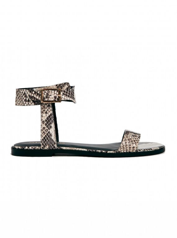 KG by Kurt Geiger Maddox snake print flat sandals
