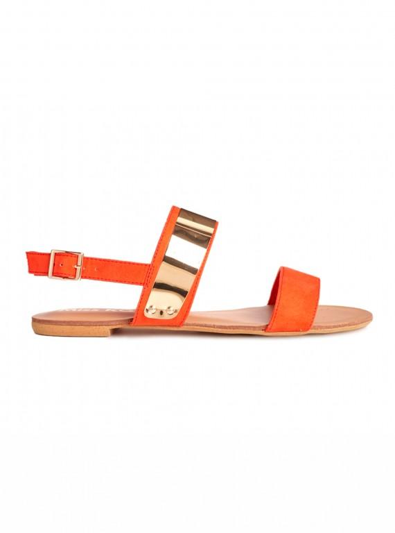 Miss KG Dawn orange nudette two strap sandals
