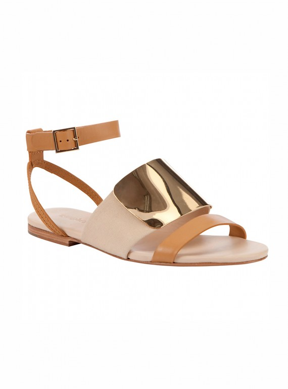 See by Chloe metal plate ankle strap flat sandals