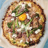 Not So Niçoise Cauliflower Pizza
