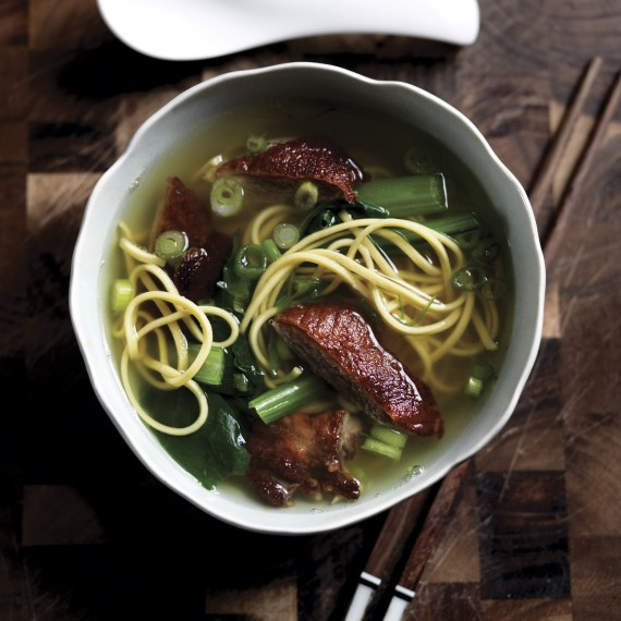 Roast duck noodle soup photo