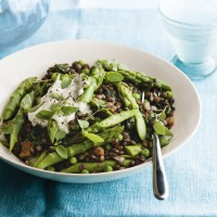 "Lentil ""Risotto"" with Asparagus"