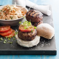 Thai Spiced Burgers with Asian Slaw