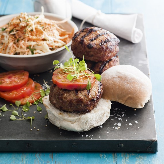 ... recipes - Thai Spiced Turkey Burgers with Asian Slaw - Woman And Home