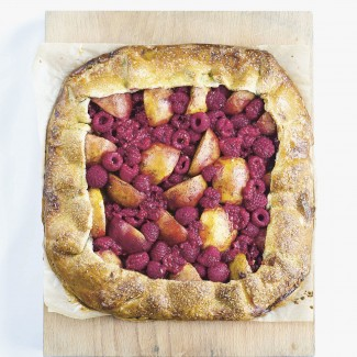 Peach and Raspberry Galette