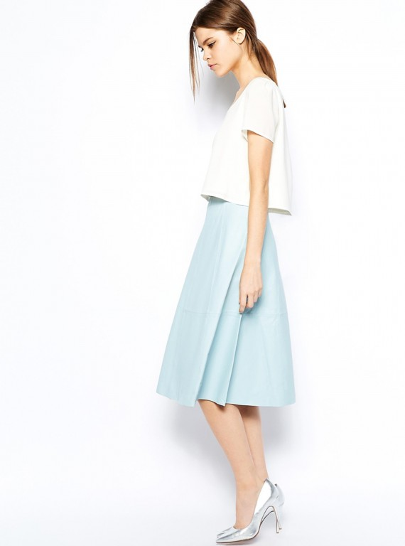 Photo of Warehouse Leather Full Midi Skirt