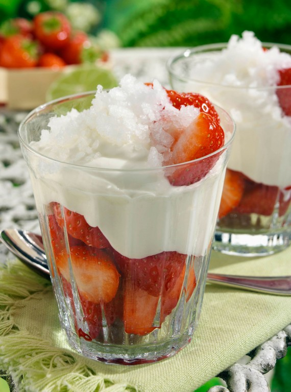 strawberries and cream photo