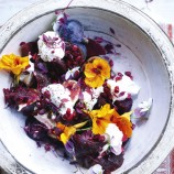 Beetroot, Fig and Curd-Cheese Salad
