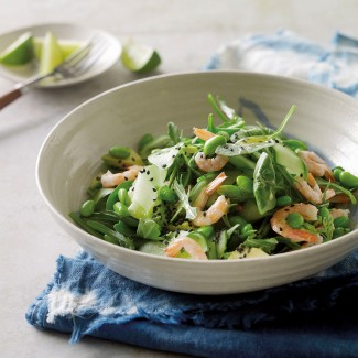 Prawn, avocado and edamame salad