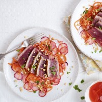 Tuna Carpaccio with Ginger and Radish
