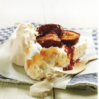 Baked Plum and Cinnamon Meringue