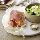 Atlantic Salmon Grilled with Fennel, Lime and Sumac