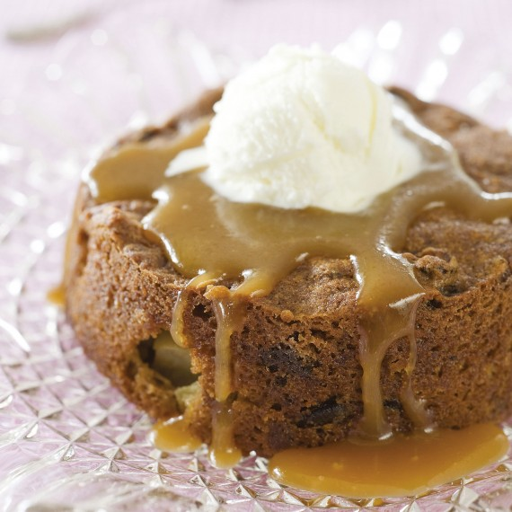 Sticky Date Puddings with Butterscotch Sauce - Woman And Home