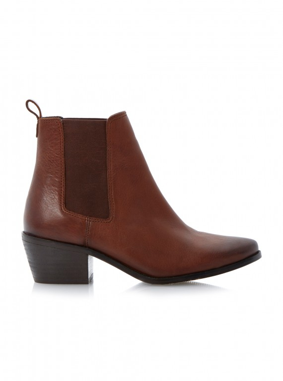 Dune London Petra leather chelsea ankle boots photo