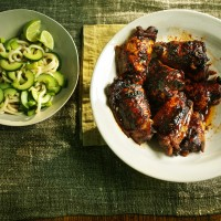 Korean-Marinated Chicken with Noodles