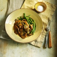 Pork Tenderloin with Mushrooms, Cream and Cider