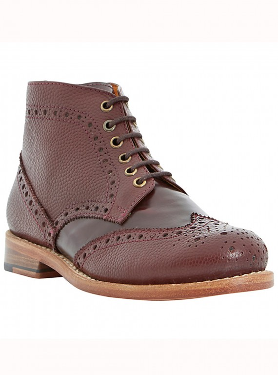 Bertie Pollard Leather Brogue Boots photo