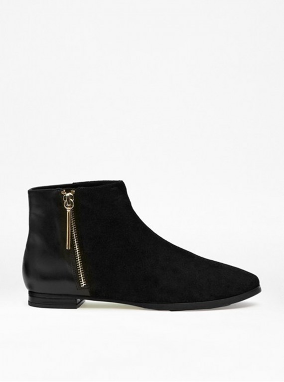 French Connection Devon Flat Ankle Boots photo