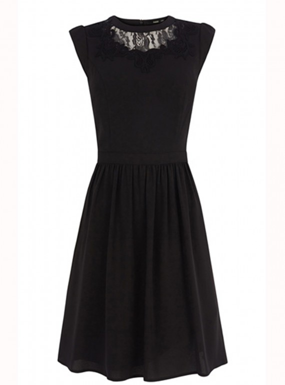 Oasis Lace Mesh Insert Skater Dress photo