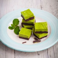 Healthy Mint Chocolate Squares