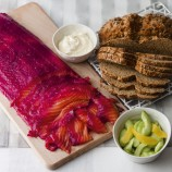 Beetroot and Gin Cured Salmon