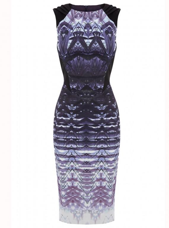 Karen Millen Ombre Lace Print Dress photo