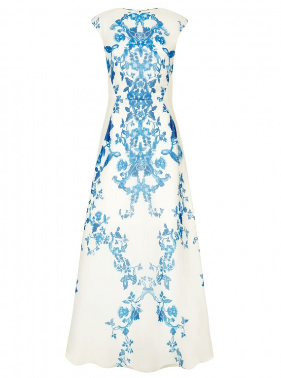 Ted Baker Nelum China Blue Print Maxi Dress photo