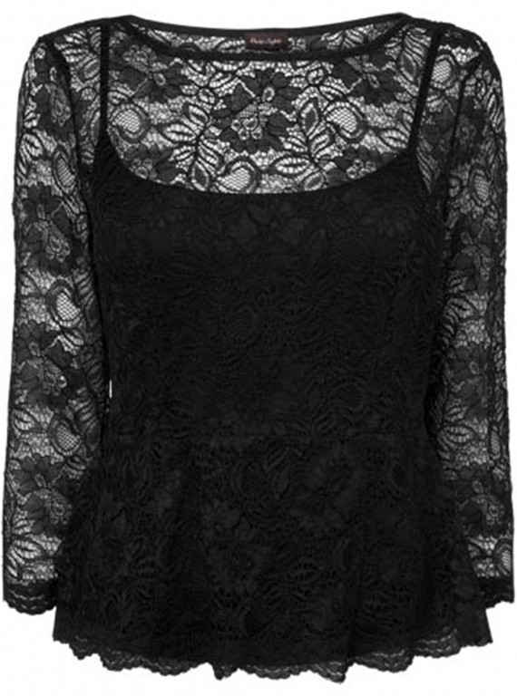 Phase Eight Peplum Lace Top