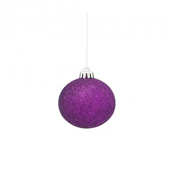 Asda Online Christmas Decorations: Asda Purple Bauble, £12 For Twelve