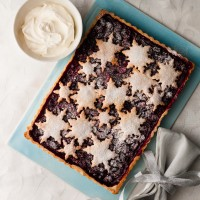 Mulled Berry Snowflake Tart