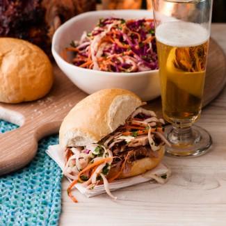 Saigon Pulled Pork with Creamed Sesame Coleslaw