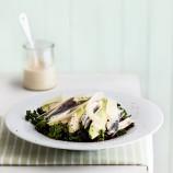 Anchovy, Avocado and Kale Caesar Salad