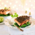 Malaysian Salmon with Sticky Rice and Asian Greens